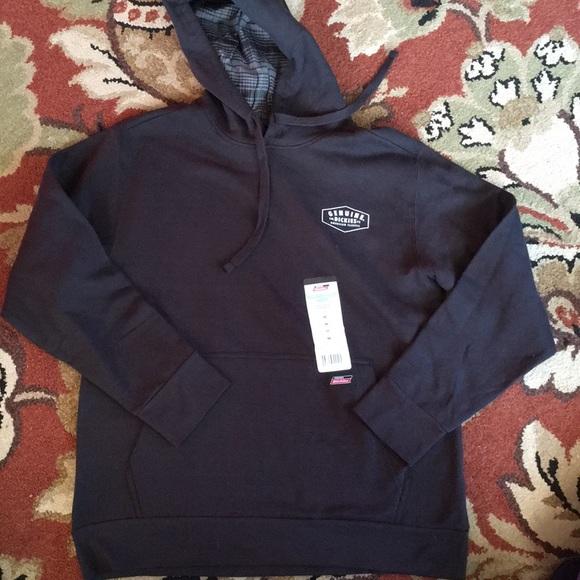 Dickies hooded pullover fleece sweatshirt NWT
